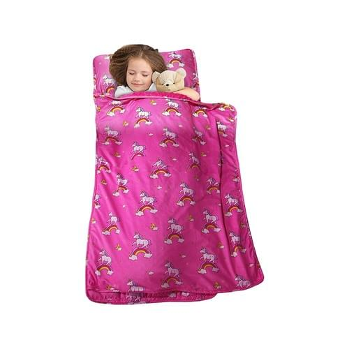 MAXTID Toddler Nap Mat with Removable Pillow for Daycare and Preschool-Pink