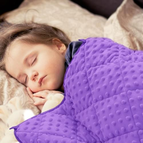 MAXTID Weighted Blanket for Toddler Kids Cotton & Minky Premium Kids Heavy Blanket with Glass Beads