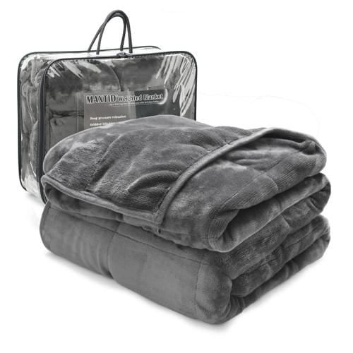 "MAXTID Adults Weighted Blanket 30lbs 80""x87"" Luxury King Size 