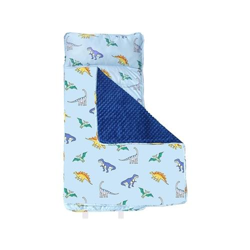 MAXTID Toddler Nap Mat with Removable Pillow for Daycare and Preschool-Blue