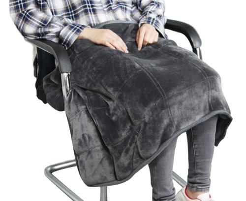 "MAXTID Weighted Lap Blanket 39"" x 23"" 8 Lbs Travel Heavy Lap Pad Meditation Blanket"