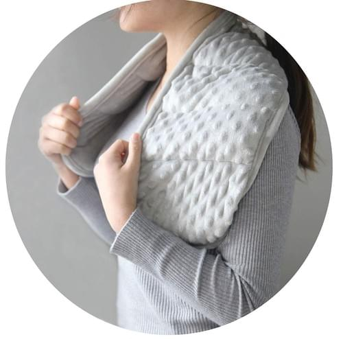 MAXTID Weighted Shoulder Wrap 2 Lbs Weighted Neck Wraps Grey