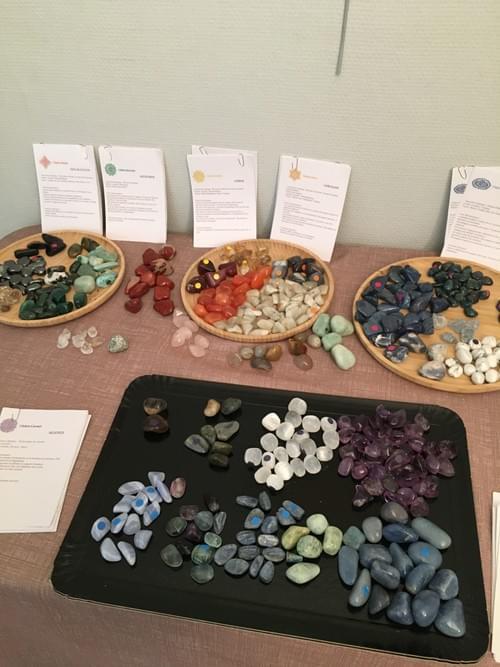 Set de 8 cristaux