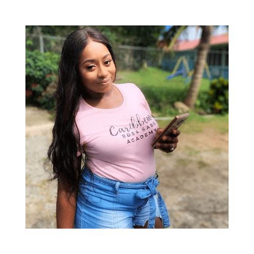 Caribbean Boss Babe Pink Tee