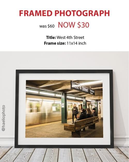 "Framed photograph - ""West 4th Street"""
