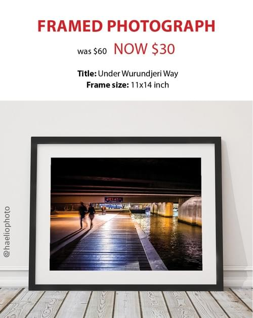 "Framed photograph - ""Under Wurundjeri Way"""