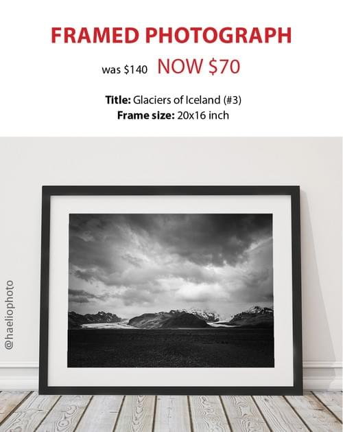 """Framed photograph - """"Glaciers of Iceland (#3)"""""""
