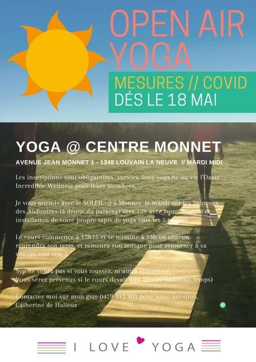 Cours Collectifs @ Pelouses du Centre Monnet (Louvain-la-neuve)