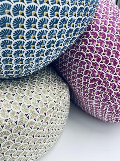 Modèle Collection Chicca Blue  Tissu coton ECOTEX