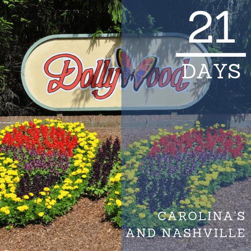 Carolina's and Nashville (21 Days)