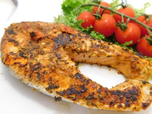 chilli salmon السلمون الحار