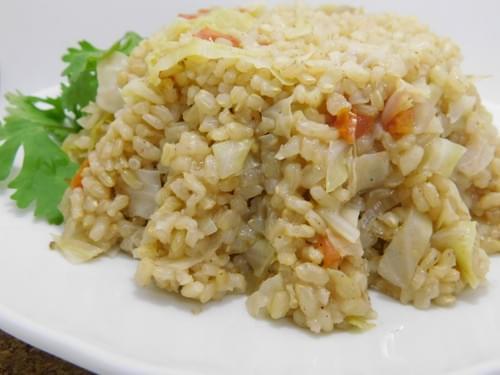 ارز بني بالكرنب Cabbage brown rice