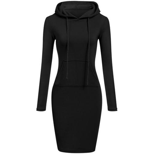 Bluxe Signature Womens Hooded Dress  (Dame-Dame Collection)