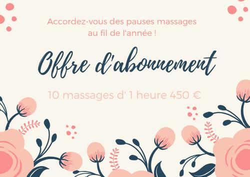 10 massages d'une heure