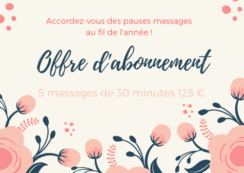 5 massages de 30 minutes