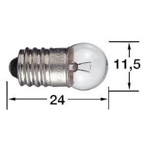 Ampoule 6 V, 100 mA, 0.6 W, culot E10