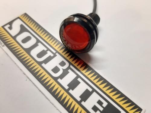 Lanterne rouge à LED 12 V, 1 W, 22 mm, neuve (réf. 20)