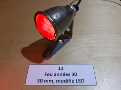 """Lanterne AR années 30 modifiée LED """"cabossé"""" (N°11)"""