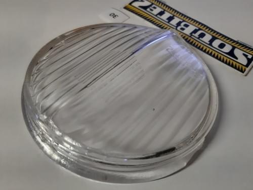 """Vitre de phare SOUBITEZ diamètre 100 mm """"bon état"""" (N°30)"""