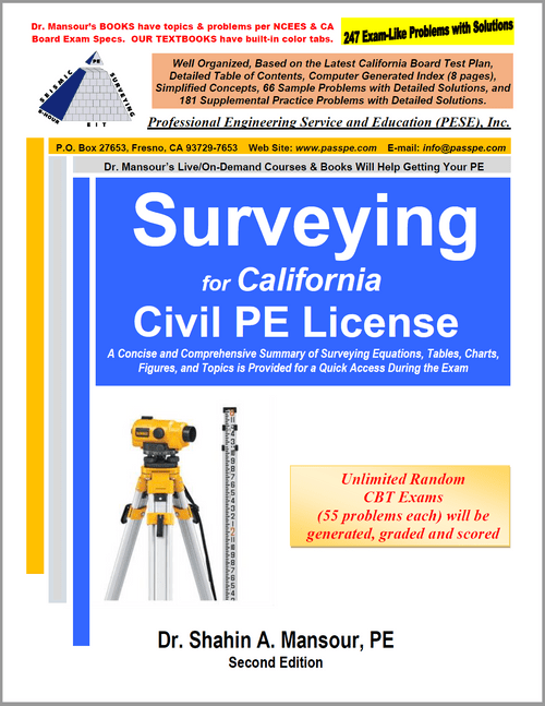 Surveying for California Civil PE License, 2nd Edition