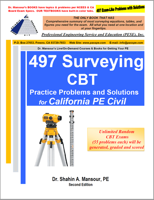 497 Surveying CBT Practice Problems and Solutions, 2nd edition