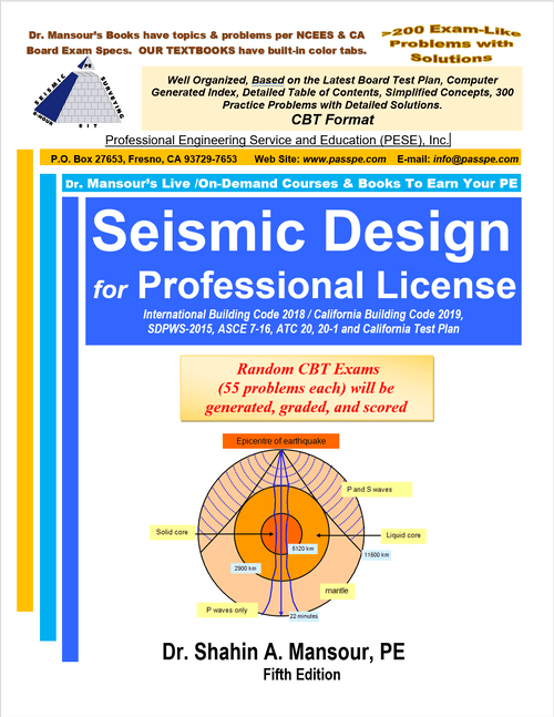 Seismic Design for Professional License 5th Edition