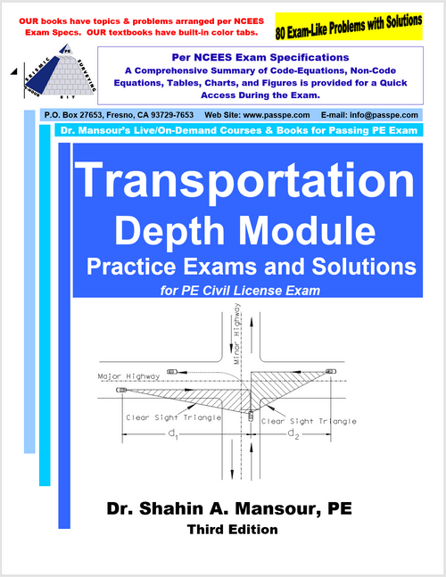 Transportation Depth Module Practice Exams and Solution 3rd Edition