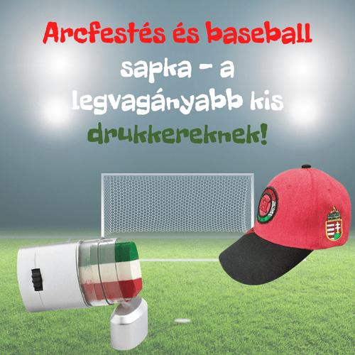 Magyarország arcfestő + baseball sapka