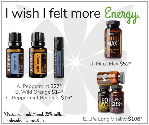I wish I felt more Energy.