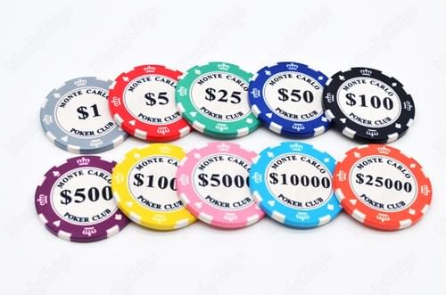 500 monte carlo ceramic poker chips free shipping