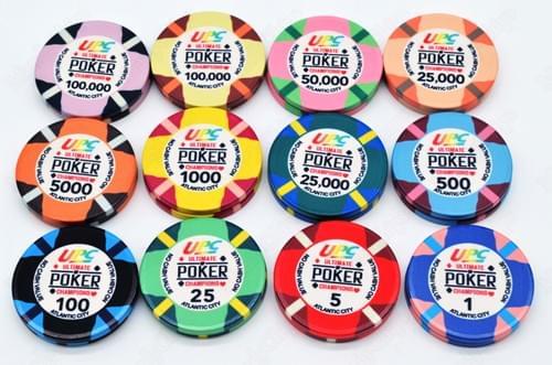 500 UPC ceramic poker chips free shipping