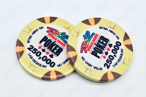 500 WSOP ceramic poker chips free shipping