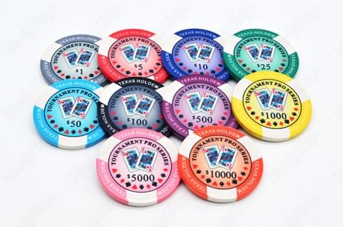 500 Texas Holdem ceramic poker chips free shipping
