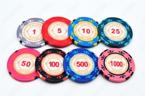 500 royale casino ceramic poker chips free shipping
