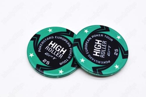 500 ept High Roller ceramic poker chips free shipping
