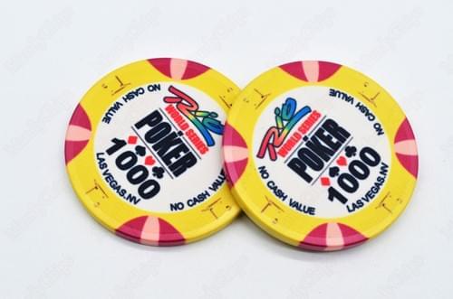 500 WSOP ceramic poker chips free shipping