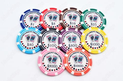 500 Tournament Pro Series ceramic poker chips free shipping