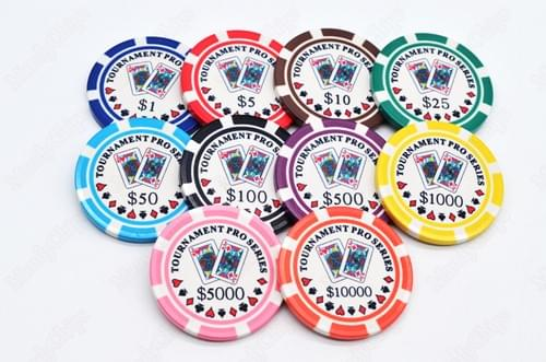 500 Tournament Pro Series ceramic poker chips free shipping