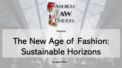 The New Age of Fashion: Sustainable Horizons (13 April 2021)