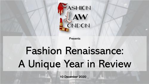 Fashion Renaissance: A Unique Year in Review (10 December 2020)
