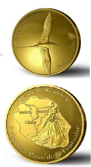 Jeton Médaille touristique / Pièce à collectionner Ile de La Réunion Paille en Queue