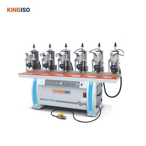 six head hinge drilling machine