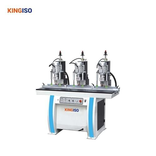 three head wood hinge drilling machine