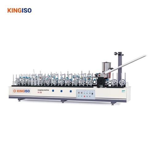 Hot Melt Glue BF300B-II Veneer High Matching Profile Wrapping Machine