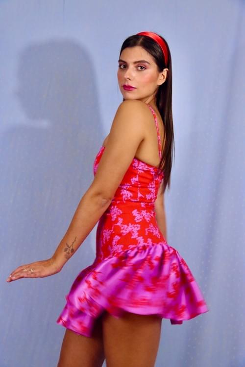 Robe berenice Rouge