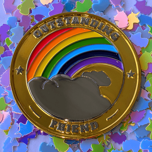 Young Artist Designed - Dazzling Unicorn and Rainbow Pass-It-On | Friendship Gift