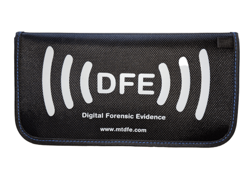 "XL Size - X2 Shielded Cellphone Faraday Evidence Case 9.5"" x 5"""