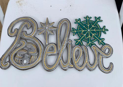 """""""Believe"""" Metal Wall Art"""