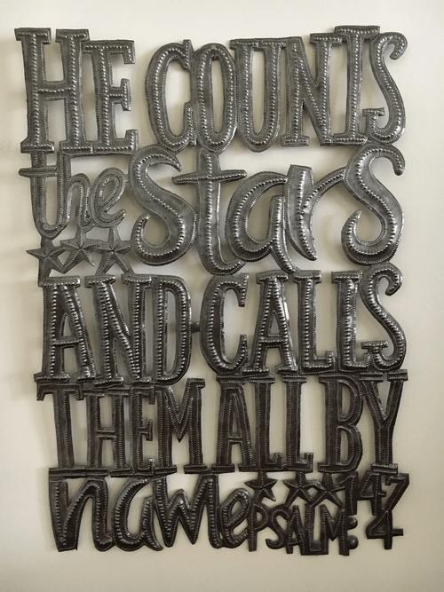 """He Counts the Stars"" Metal Wall Art"