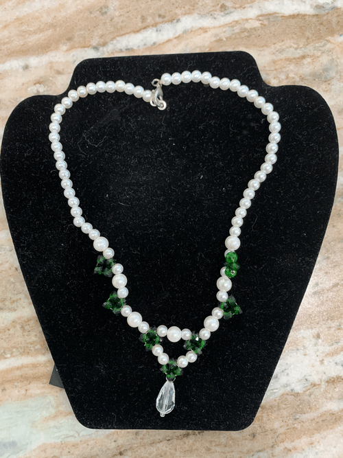 Hand Made African Beaded Necklace with Pendent